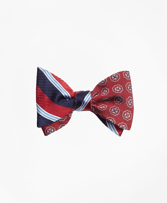 BB#1 Stripe with Double Stripe Reversible Bow Tie