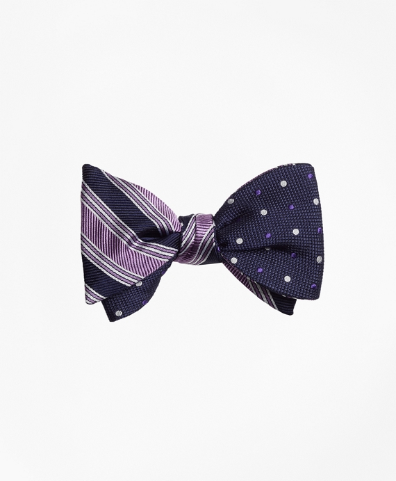 Split BB#1 Stripe with Alternating Dot Reversible Bow Tie