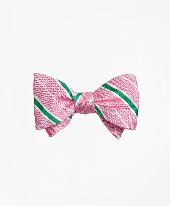Textured Ground BB#2 Stripe with Pinstripe Bow Tie Pink