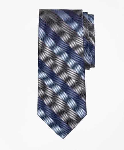Dotted Herringbone Stripe Tie