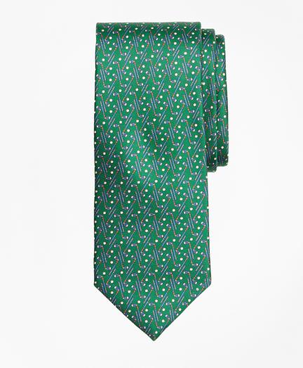 Golf Motif Print Tie