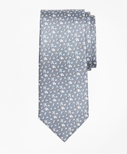 Elephant Motif Print Tie