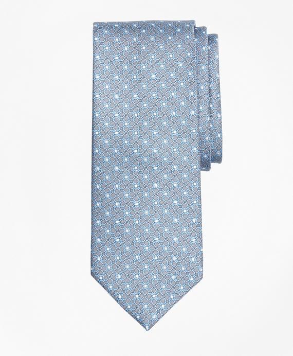 Horseshoe Motif Print Tie Grey
