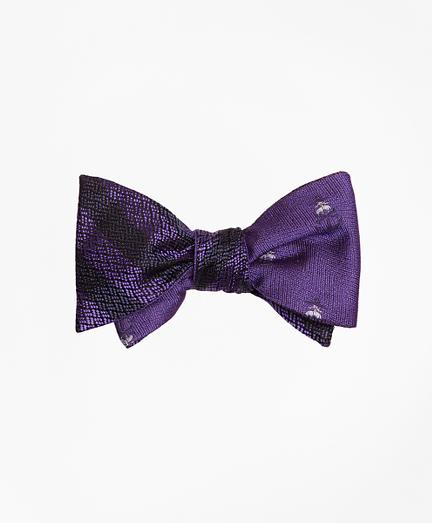 Textured Stripe with Golden Fleece® Reversible Bow Tie