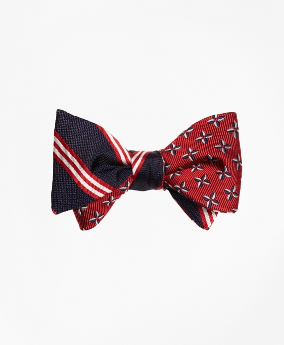 BB#1 Rep Stripe with Pinwheel Reversible Bow Tie