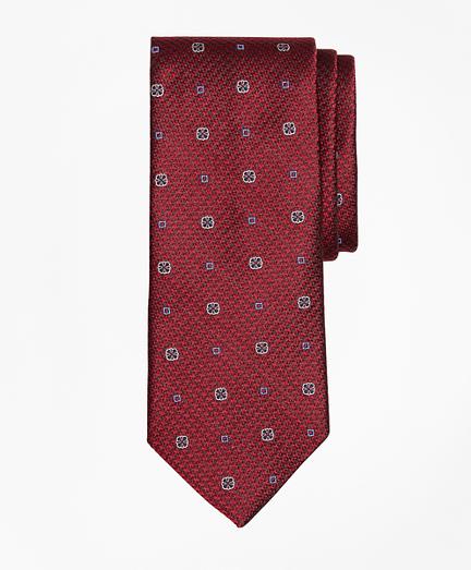 Houndstooth Medallion Tie
