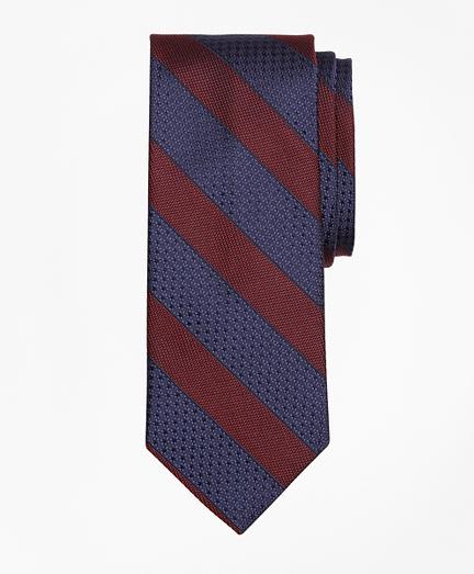 Textured Framed Stripe Tie