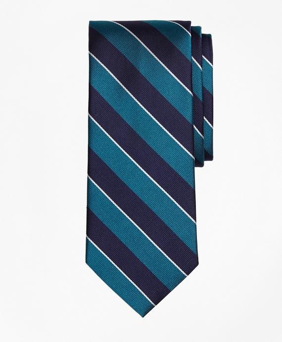 Sidewheeler Rep Stripe Tie Green