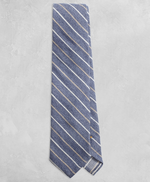 Golden Fleece® Two-Tone Stripe Tie Blue