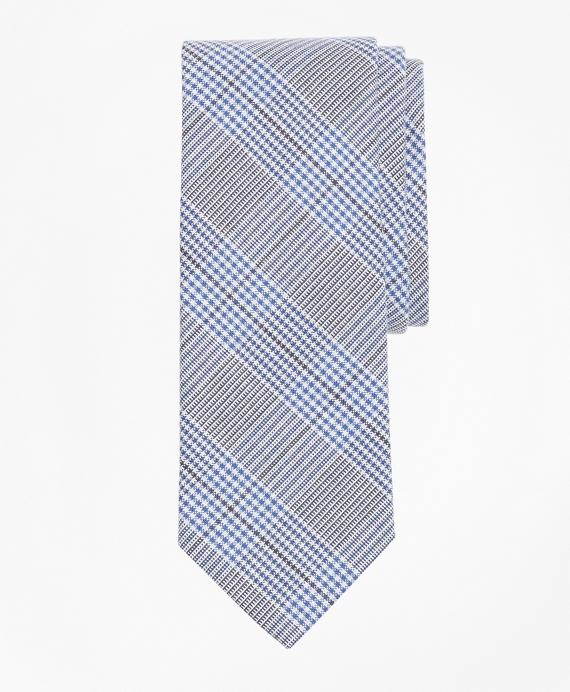 Glen Plaid Tie Grey