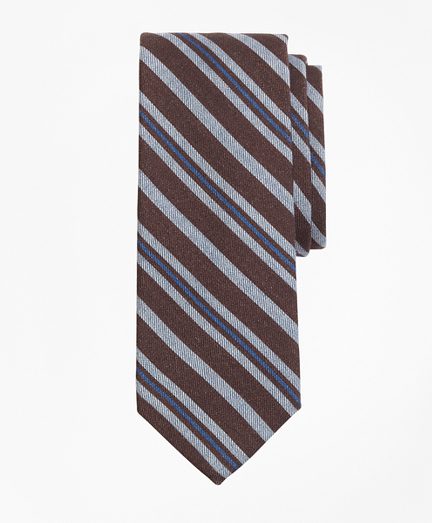 Alternating Stripe Print Tie