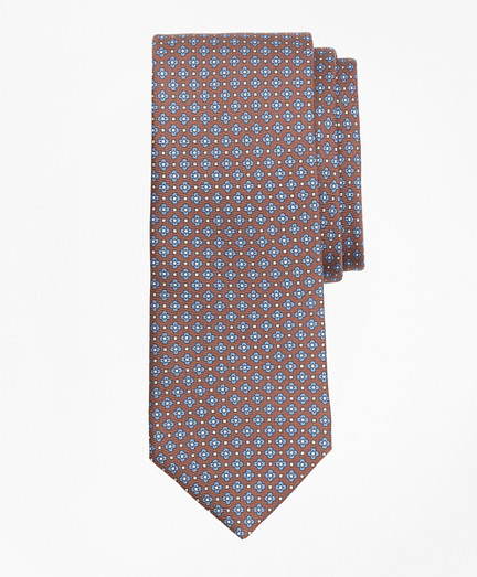 Flower and Diamond Print Tie