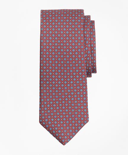 Flower and Diamond Print Tie