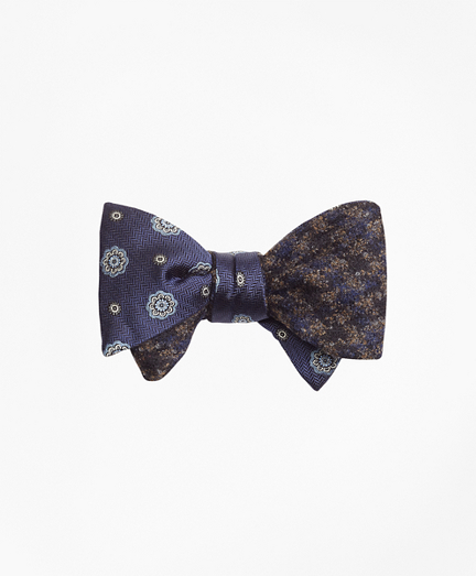 Spaced Medallion with Multi-Check Reversible Bow Tie