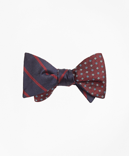 Twill Stripe with Parquet Reversible Bow Tie