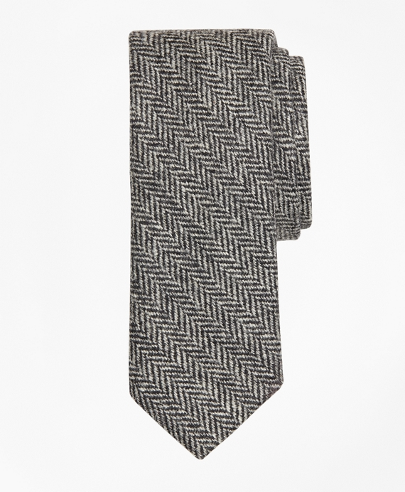 Herringbone Tie Black-White