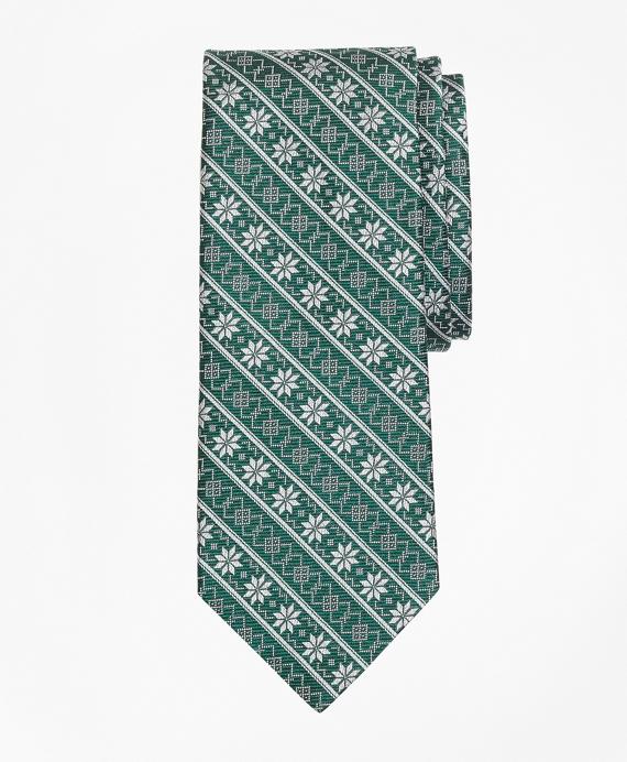 Snowflake Stripe Tie
