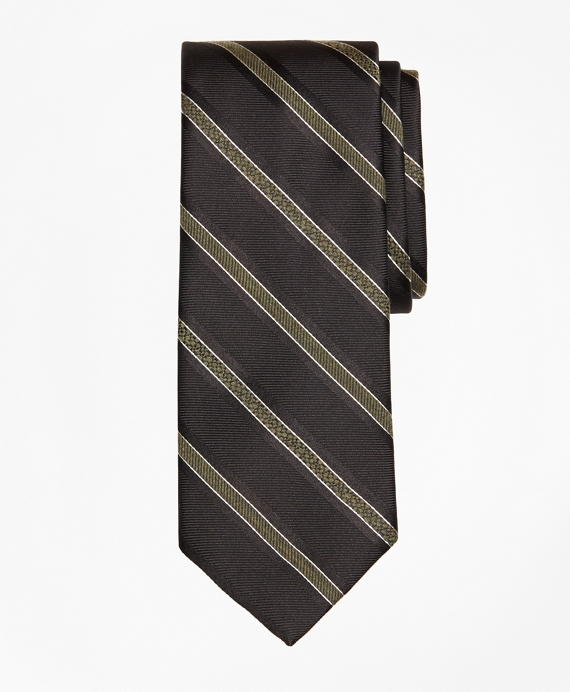 Alternating Textured Stripe Tie
