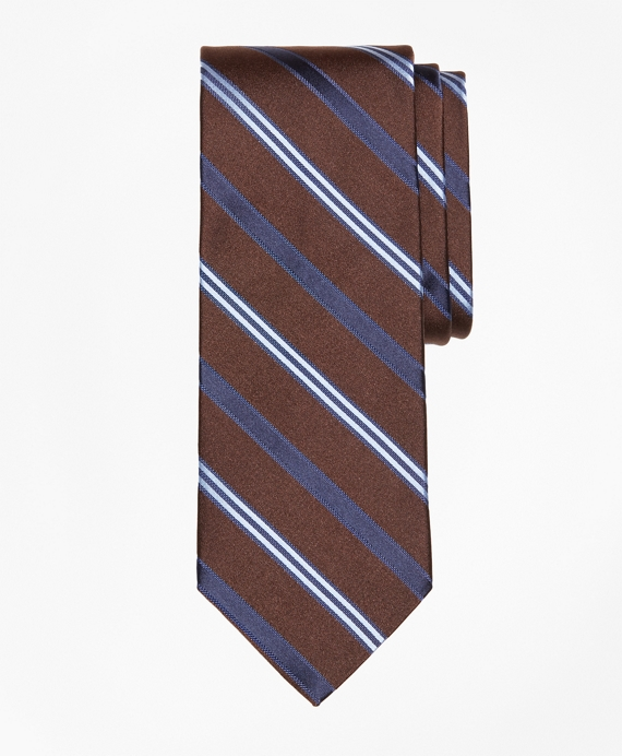 Alternating BB#10 Stripe Tie Brown