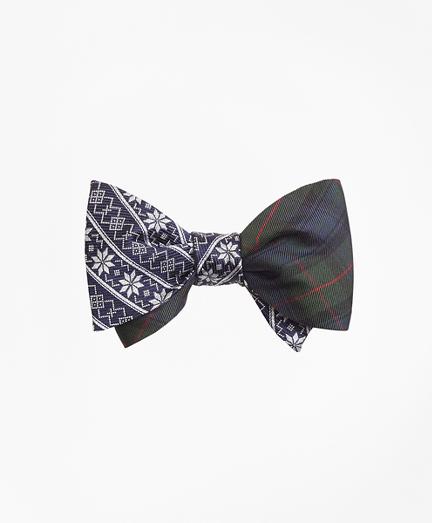 Snowflake Stripe with McKinley Tartan Reversible Bow Tie