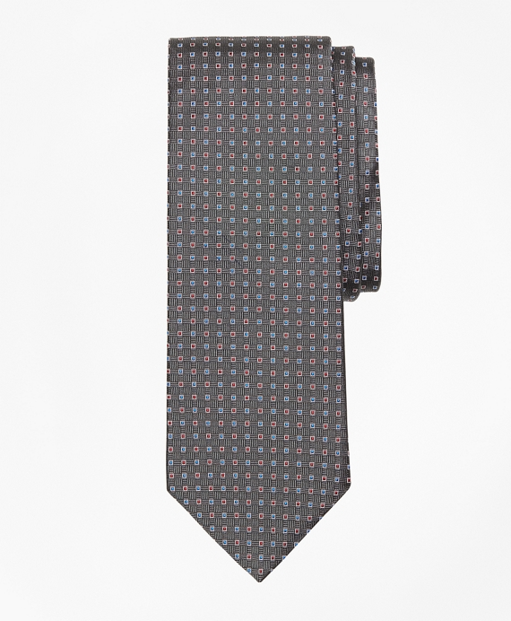 Alternating Squares Tie Grey