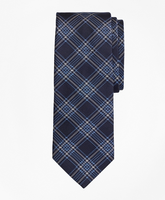 Plaid Tie Blue