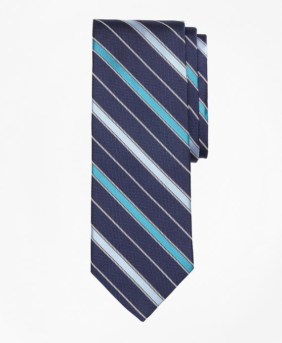 Rope Stripe Tie Aqua