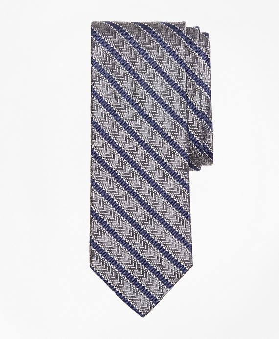 Dot Framed Stripe Tie