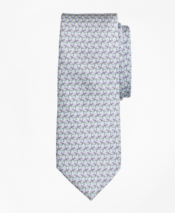 Koala Print Tie Grey