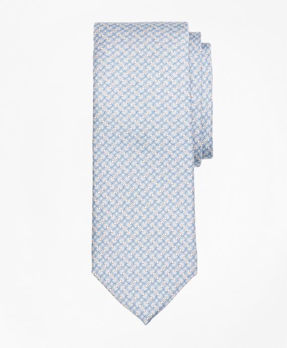 Link Print Tie Grey