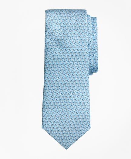 Airplane Motif Print Tie