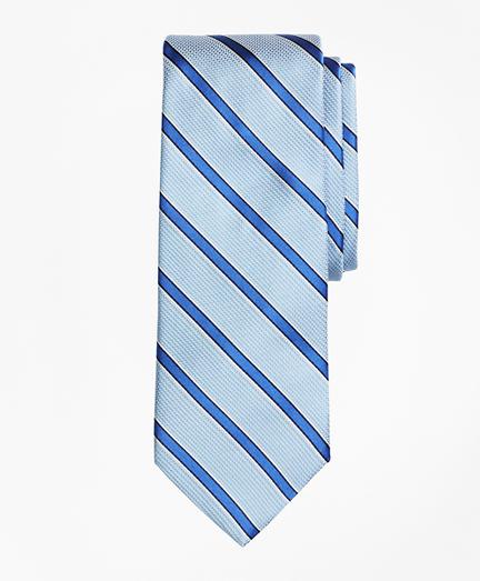 Textured Ground Framed Stripe Tie