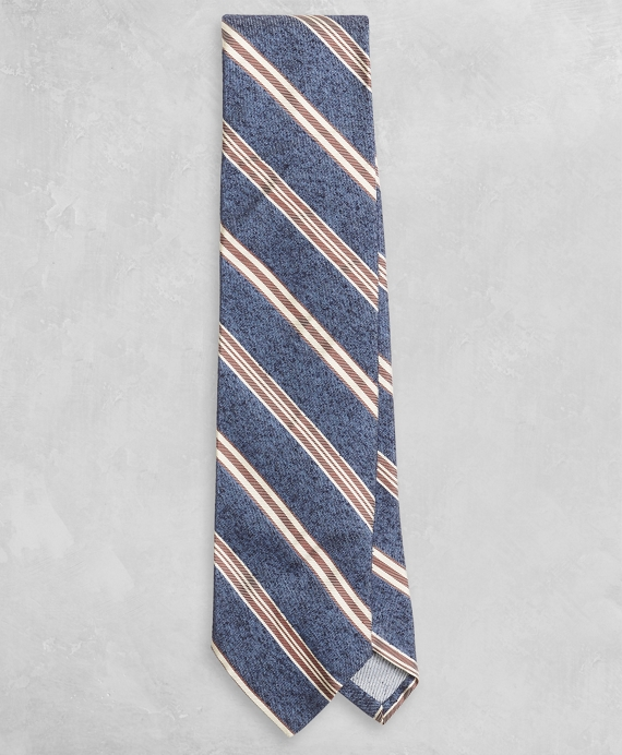 Golden Fleece® Alternating Stripe Tie Blue