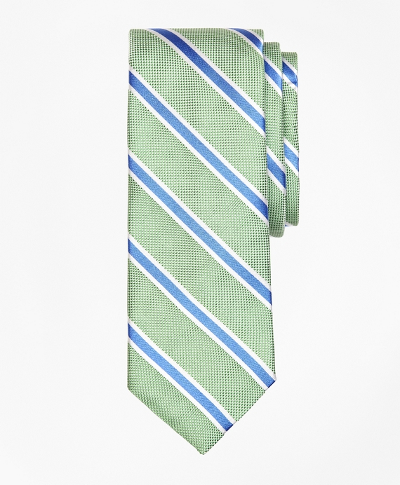 BB#2 Stripe Oxford  Tie Green