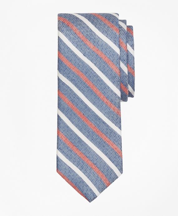 Alternating Stripe Tie Navy