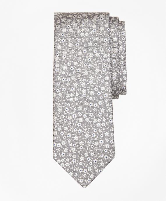 Ditzy Flower Tie Grey