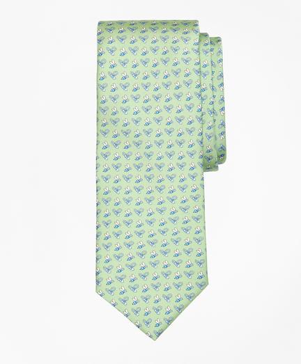 Bee Motif Print Tie