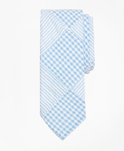 Patchwork Seersucker Tie