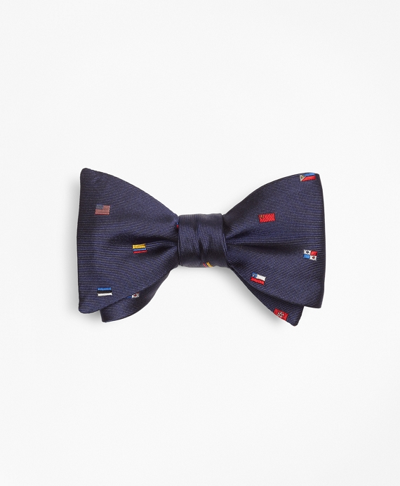 Global Flags Bow Tie