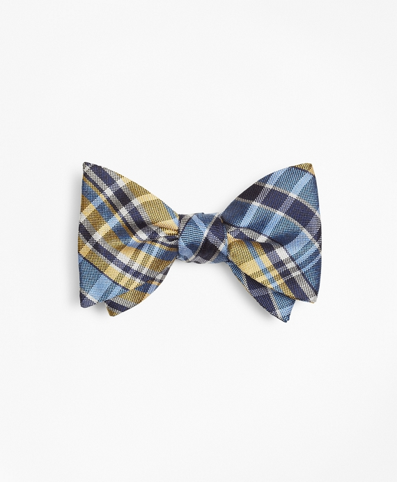 Plaid Bow Tie Yellow