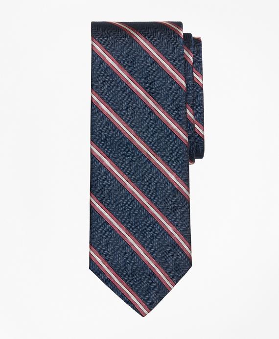 Split Stripe Tie Navy