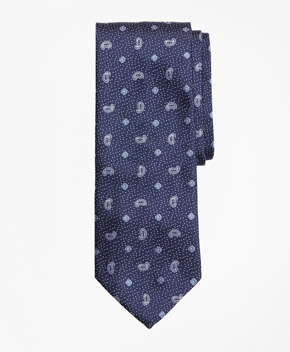 Dot and Pine Tie Navy