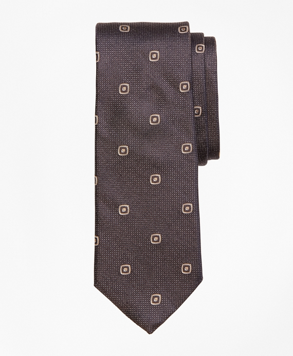 Double-Square Tie Brown