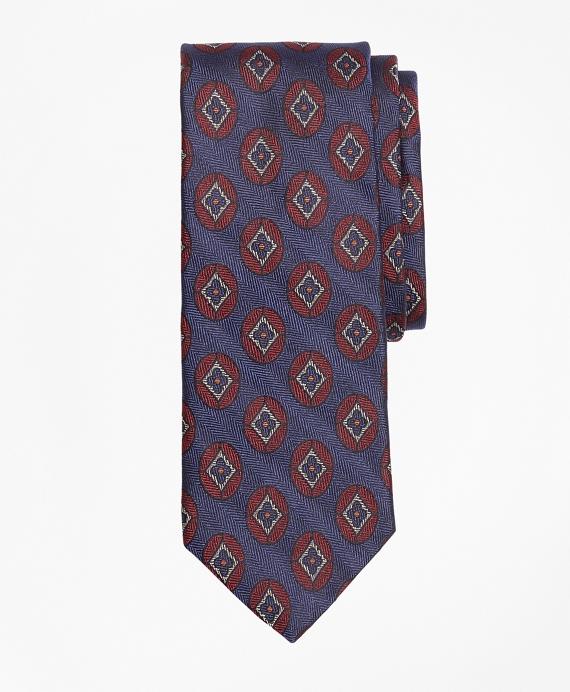 Flower Medallion Tie Blue