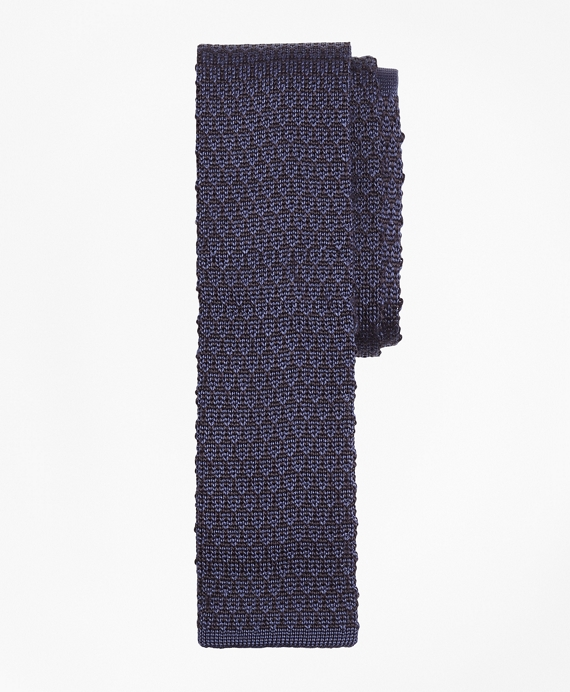 Circle and Dot Knit Tie Blue