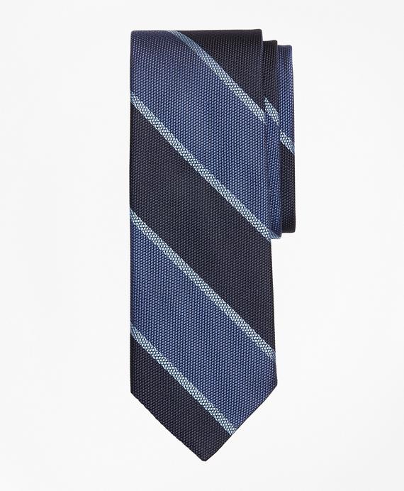 Wide Stripe Tie Blue