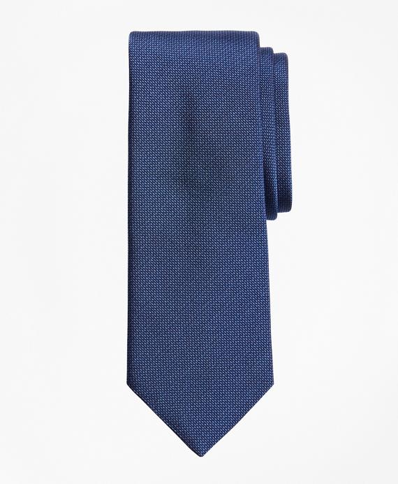 Square Textured Tie Blue