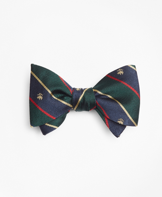 Argyll and Sutherland with Golden Fleece® Stripe Bow Tie Green