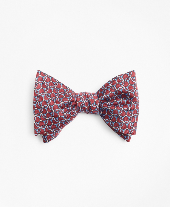 Triple Link Print Bow Tie Red