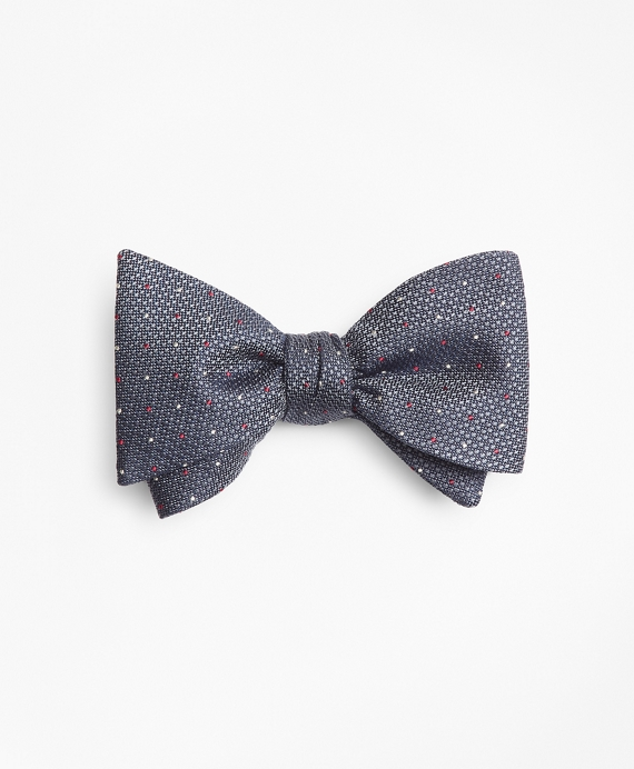 Alternating Dot Bow Tie Grey